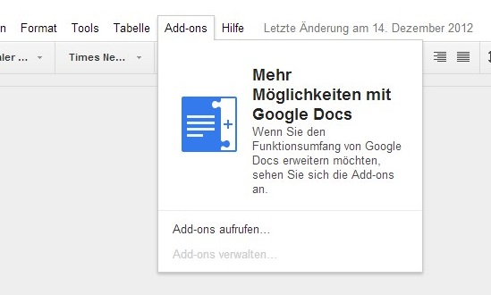 google add ons