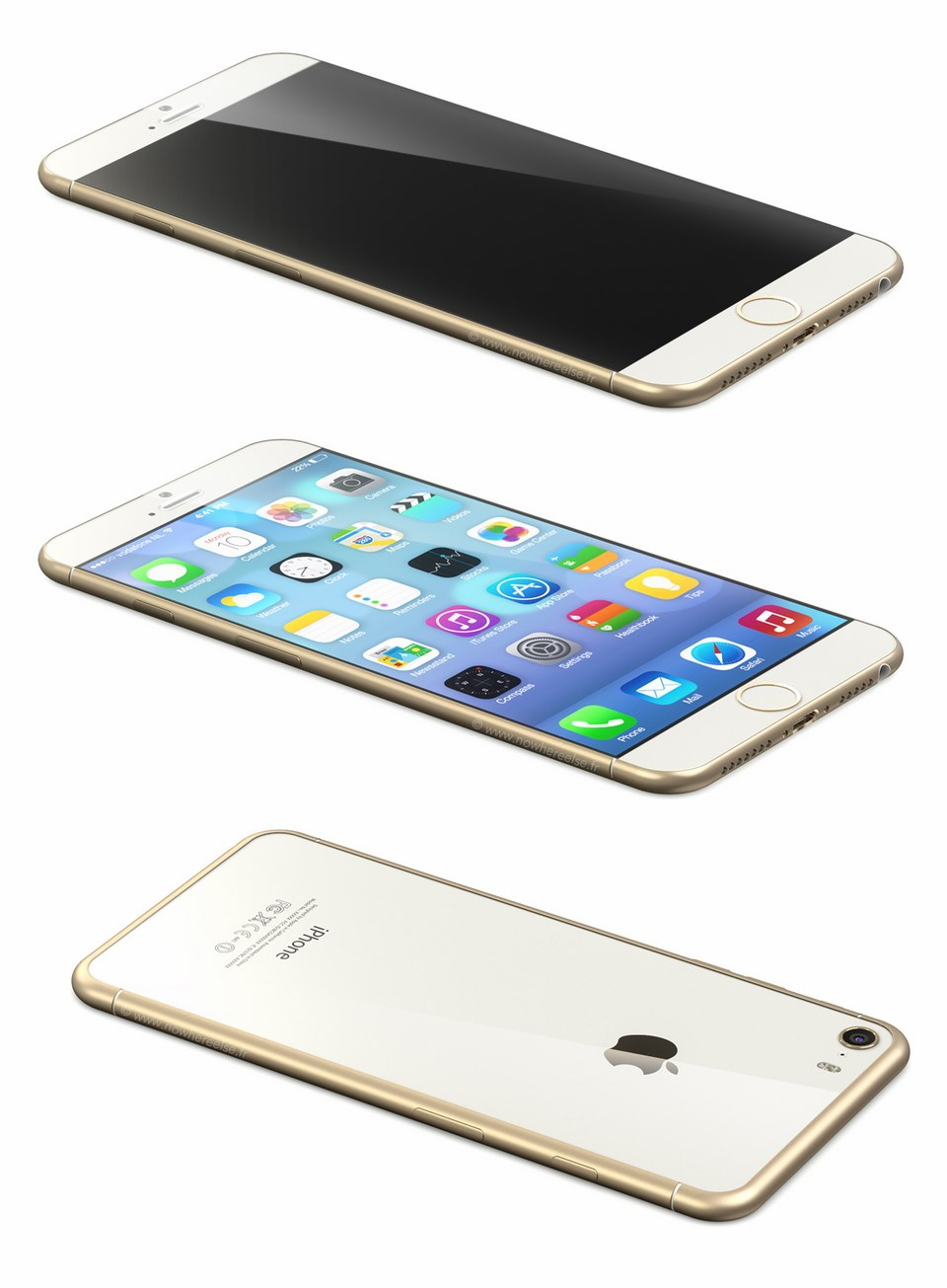 iPhone 6 Mockup Gold