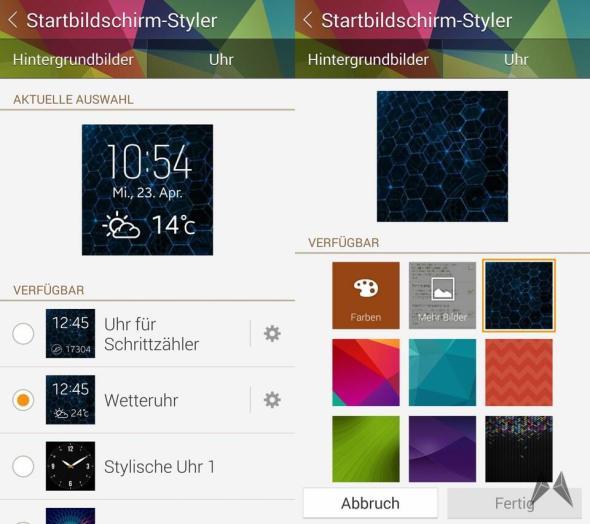 Gear 2 Startbildschirm Styler