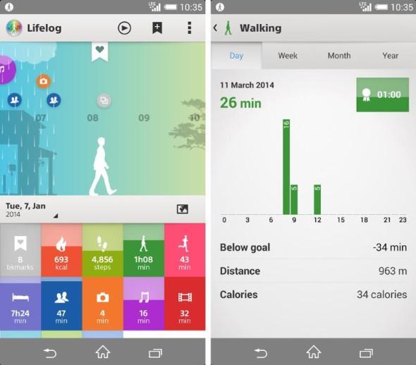 lifelog sony app android