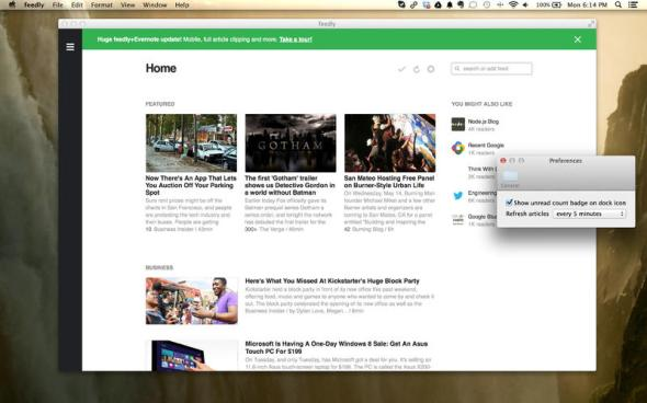 Feedly Mac