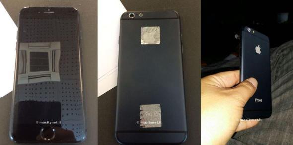 iPhone 6 Mockup Schwarz Header