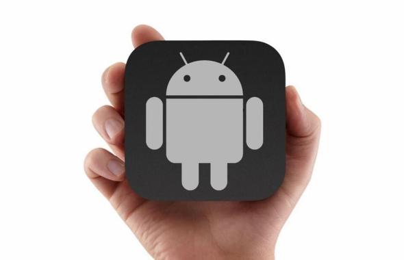 Google Android TV Logo Konzept Header