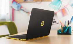 HP Slatebook sitting on office desk