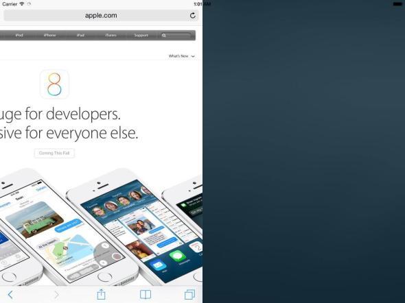 SplitScreen iOS 8 Beta