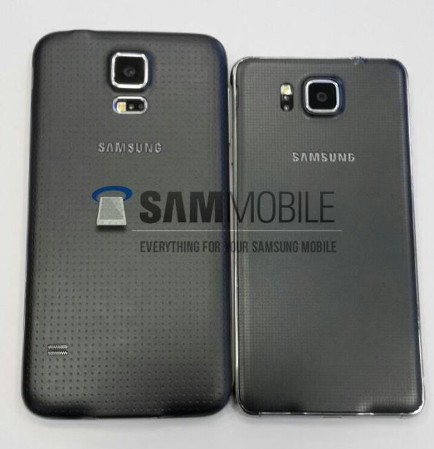 Galaxy Alpha vs Galaxy S5 Back