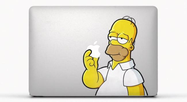MacBook Air Homer Sticker