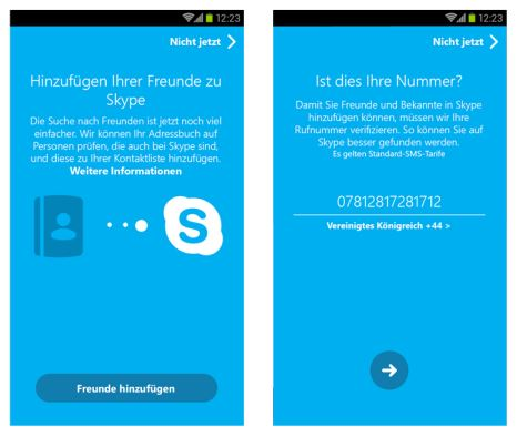 Skype Android Update Screenshots