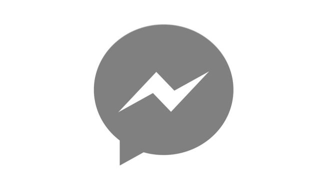 Facebook Messenger Logo Grau Header