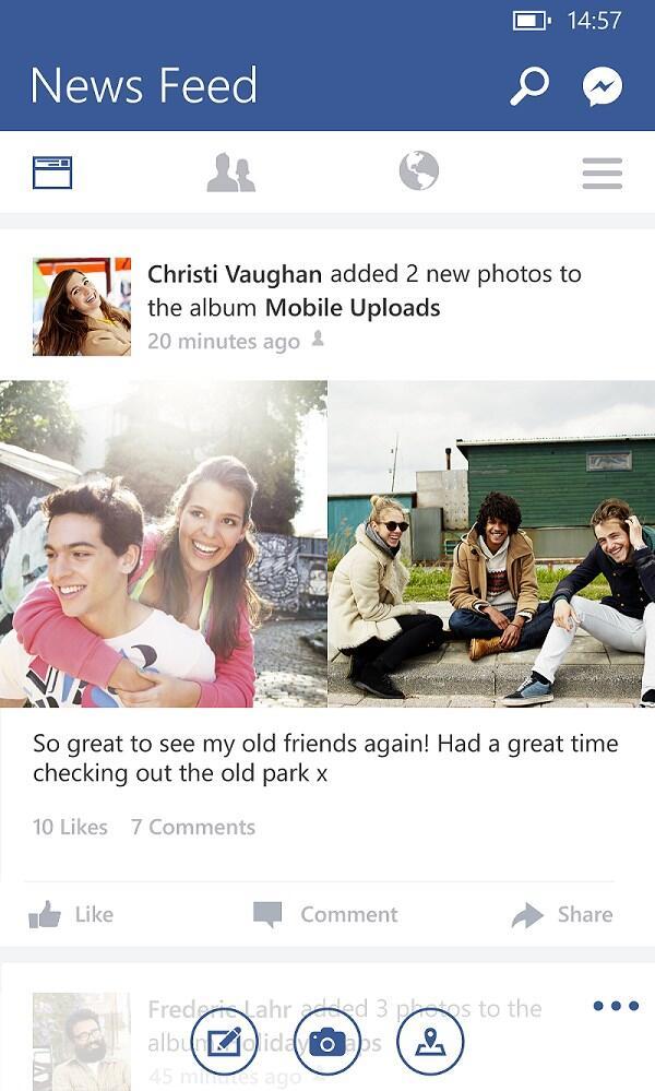 Facebook Windows Phone Update Screenshot