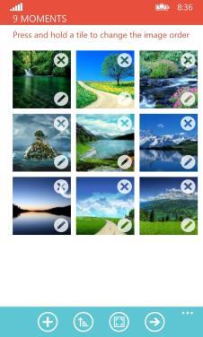Flipagram Auswahl Screenshot