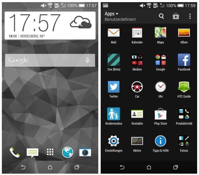 HTC One mini 2 Screenshot Header