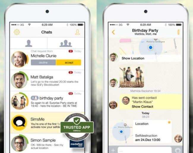 SIMSme Screenshots