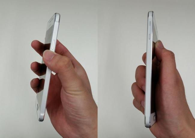 Samsung Galaxy Alpha Weiß Seite