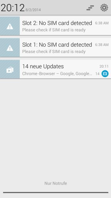 g610 notifications