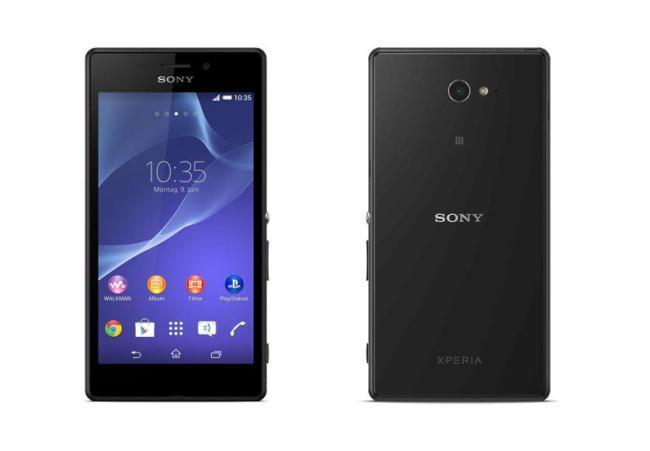 Sony Xperia M2 Aqua Schwarz Header