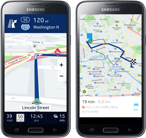 here maps android
