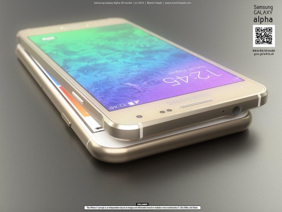 iPhone 6 vs Galaxy Alpha Konzept (2)