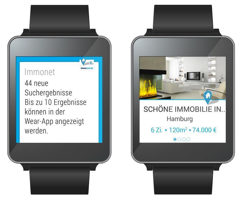 Immonet bringt App für Android Wear  Immonet bringt ...