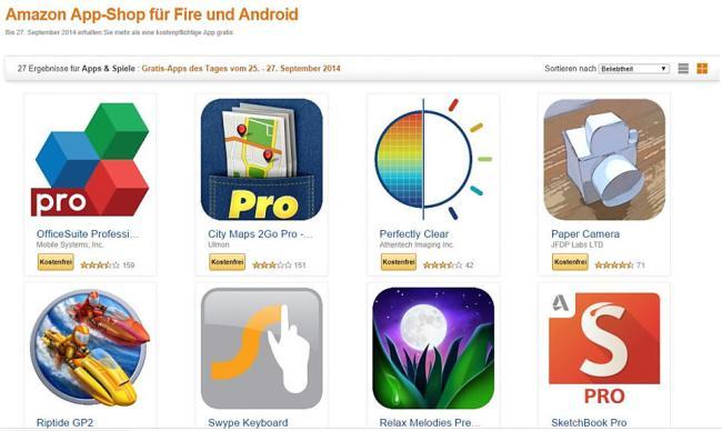 Amazon App Store 25 Apps