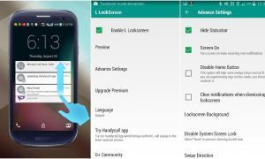 Android L Lockscreen
