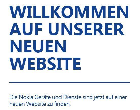 Nokia DE Webseite