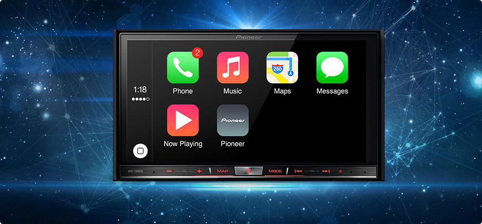 video apple carplay auf einem pioneer autoradio in aktion. Black Bedroom Furniture Sets. Home Design Ideas