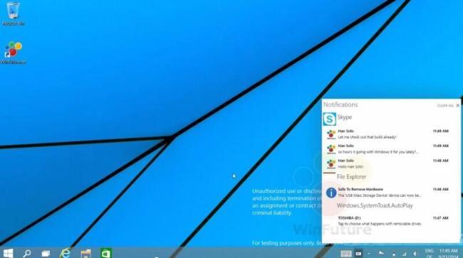 Windows 9 Notification-Center