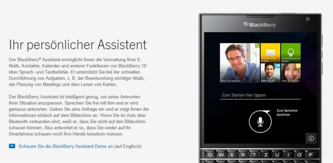 blackberry assistent