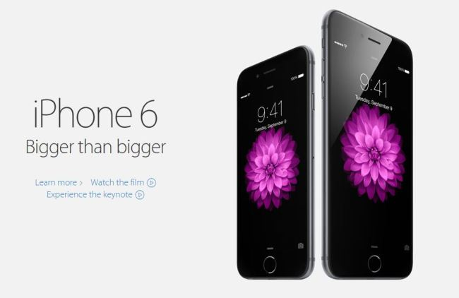 iPhone 6 Startseite