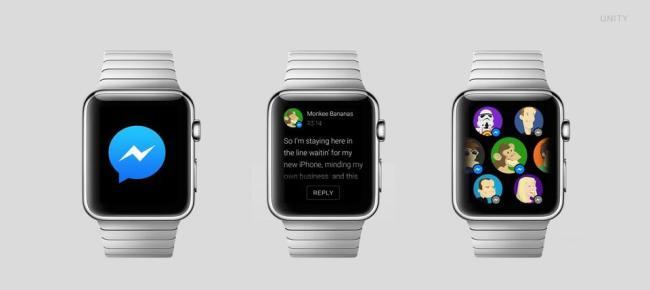 Apple Watch Konzept Apps FB Messenger
