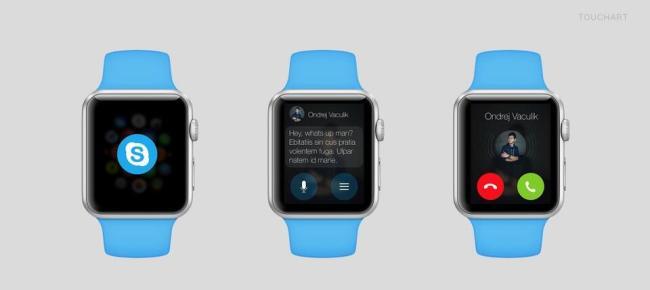 Apple Watch Konzept Apps Skype