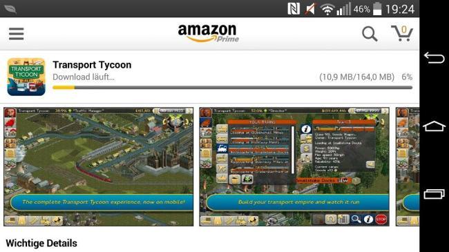 amazon app store integriert