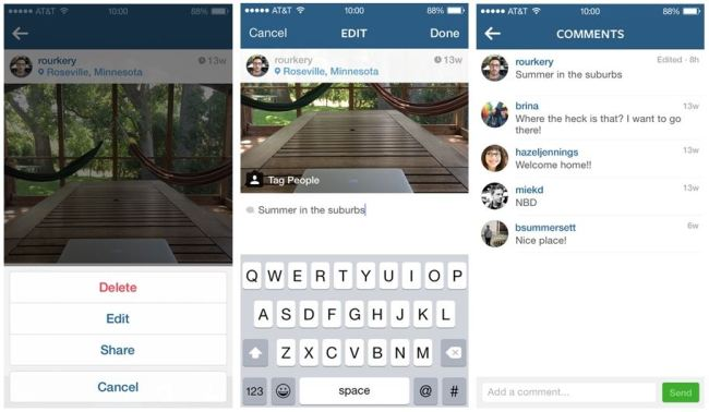 Instagram Update Screens