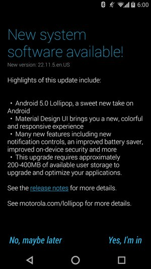 Moto X 2014 Android Lollipop Soak-Test