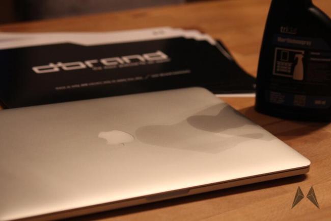 dBrand Skin für das Apple Macbook Pro Retina in Carbon IMG_3980