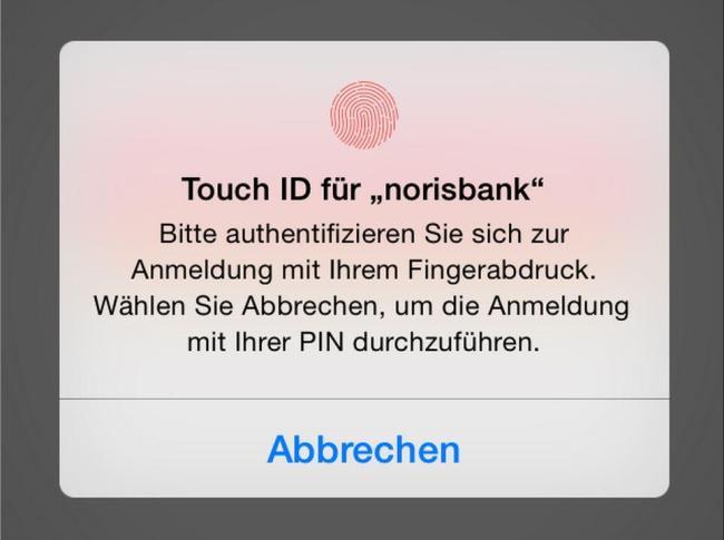 touch id norisbank