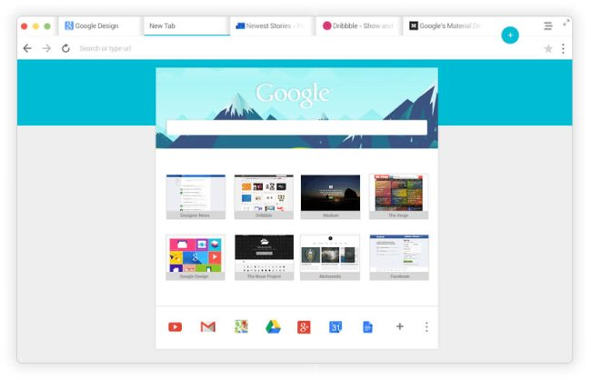 Chrome OS X Matrerial-Design 01
