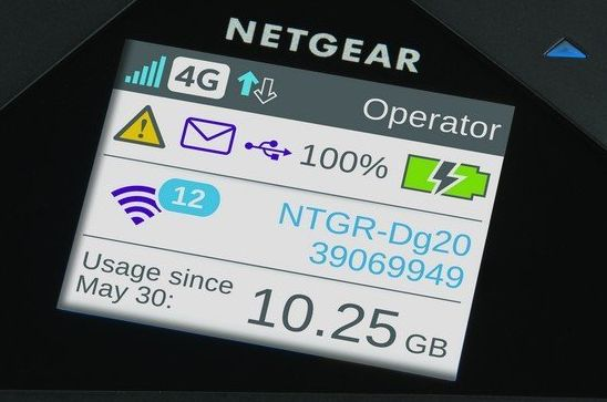 Netgear mobile Hotspot Display