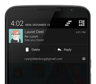 android quick action pushbullet