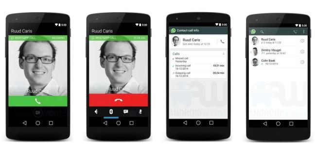 whatsapp telefonie screenshots