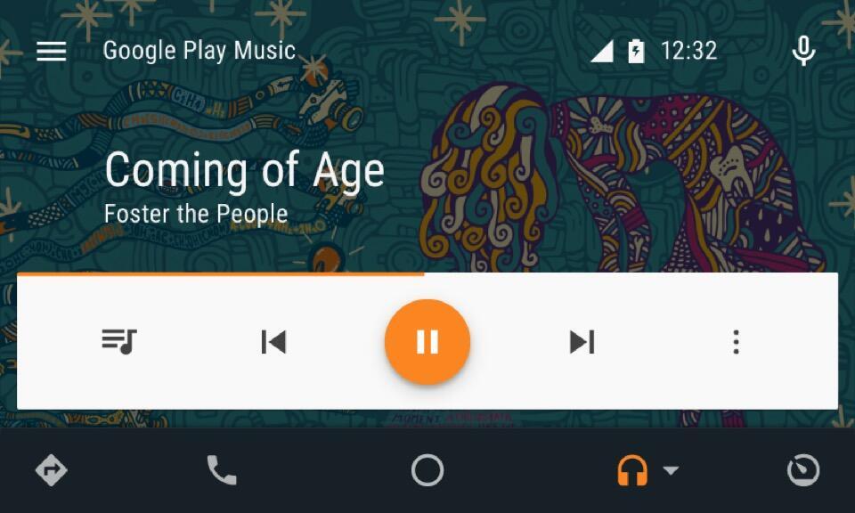 AndroidAuto-UI-Music