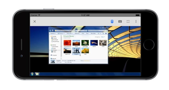 Chrome Remote Desktop iPhone