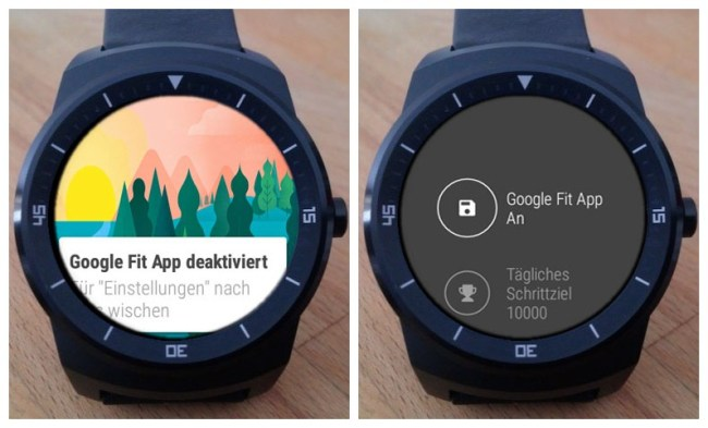 LG G Watch R FIT deaktiviert Screenshots