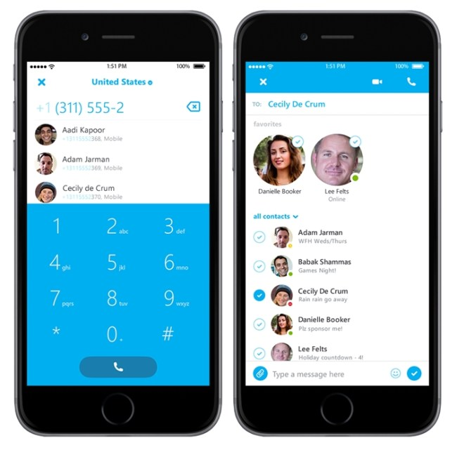 Skype iPhone Screens