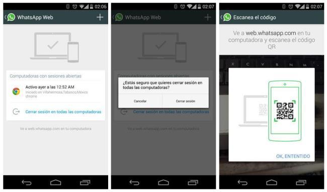 WhatsApp Web Screens