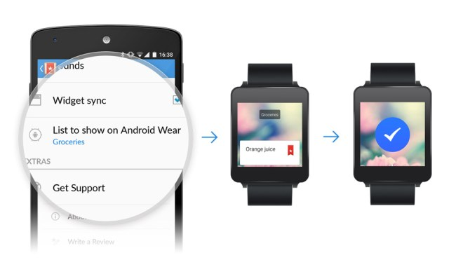 Wunderlist Android Wear