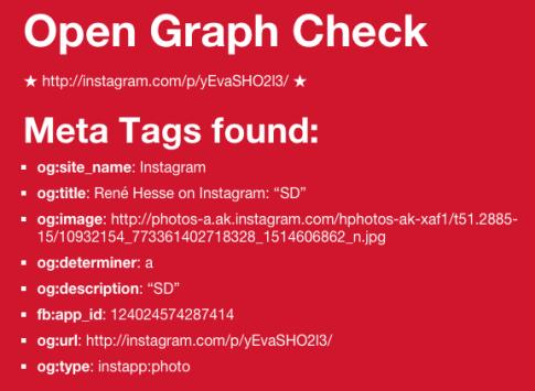 open graph instagram