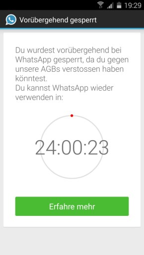 whatsapp sperrung plus 2