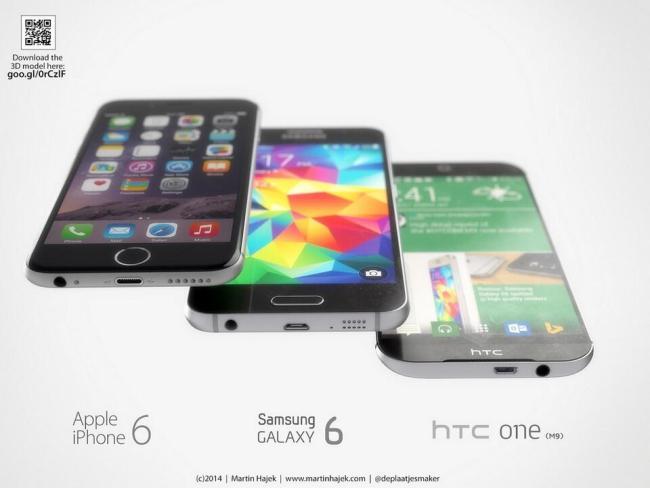 One M9 Galaxy S6 iPhone 6 (4)